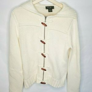Eddie Bauer Women's Medium Hooded Cardigan Sweater